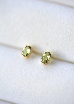 peridot earrings in gold