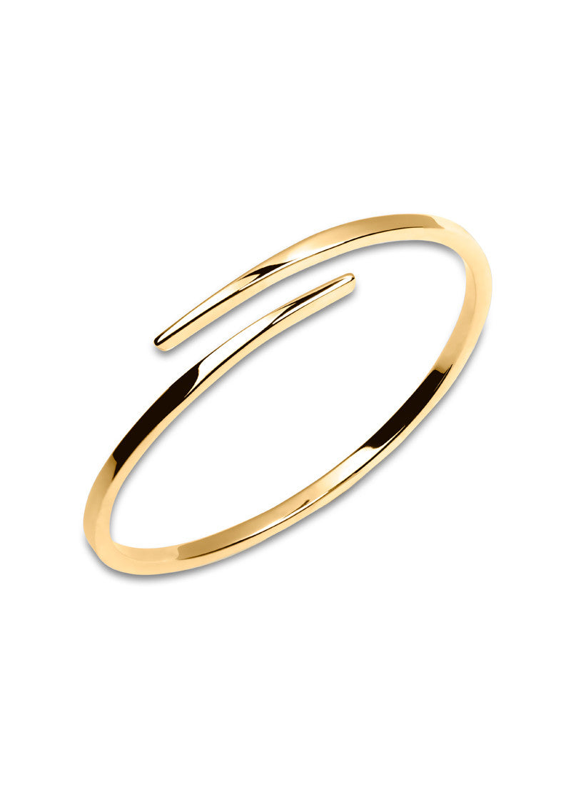 Crossover Bangle , 18k gold bangle bracelet