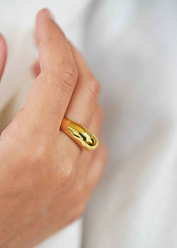 Gold Dome Ring, Dome Ring