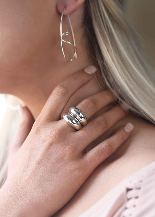Sterling Silver Dome Stacked Ring