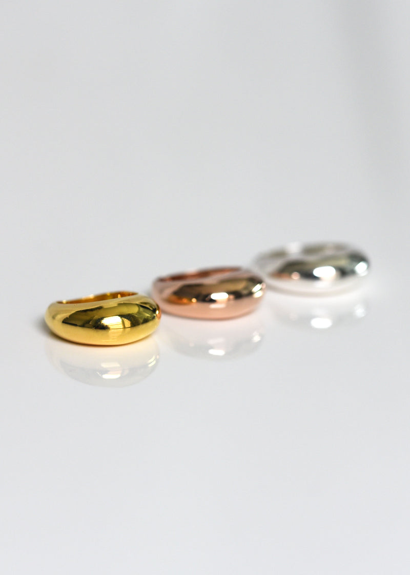 dome rings, gold chunky ring, modern ring, gold statement ring
