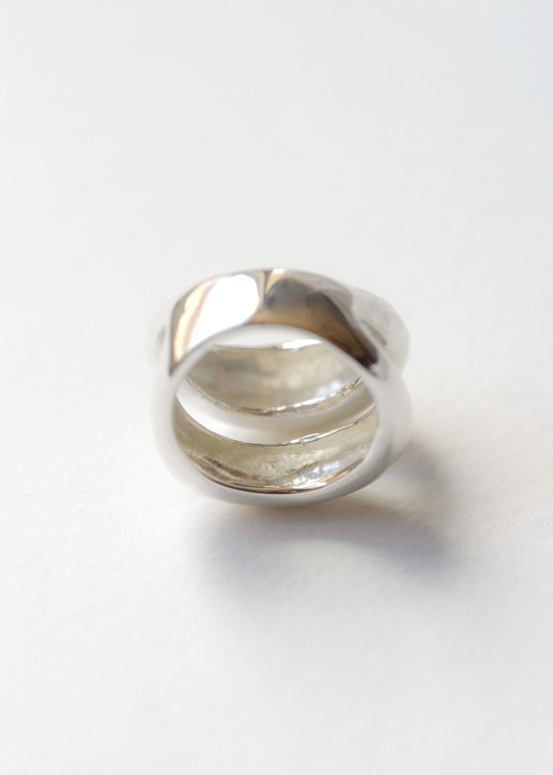 Silver Dome Ring, Chunky Ring, Statement Ring