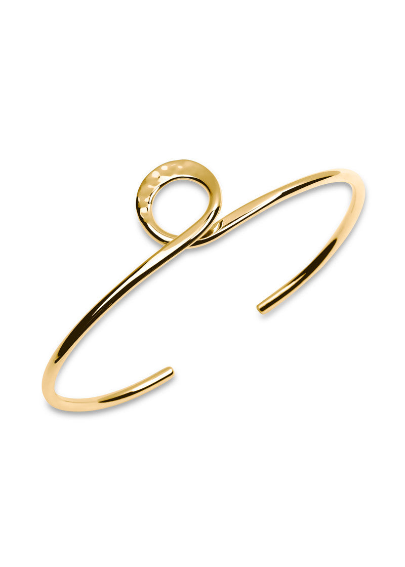 Hammered Knot Bracelet - Gold
