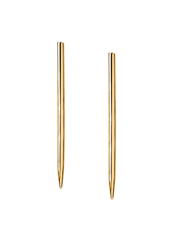 High Polish Modern Lines Earrings - Gold