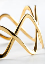 Intersection Cuff Bracelet - Gold Vermeil