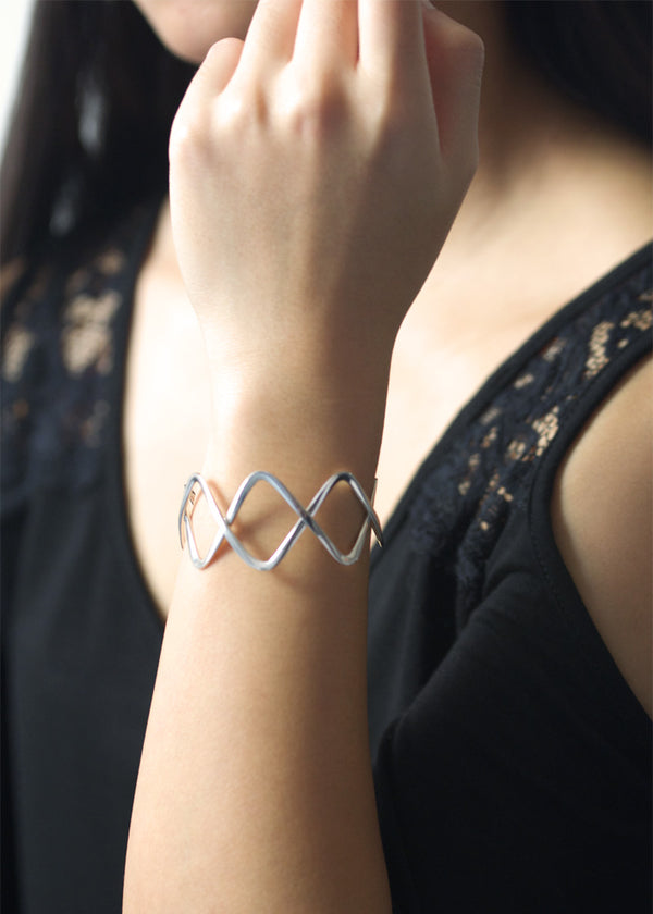 Intersection Cuff Bracelet - Sterling Silver