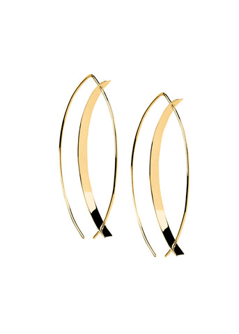 Marquise Wire Hoops - Earrings - Gold
