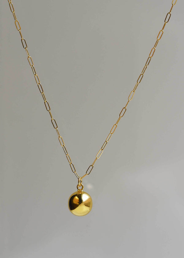 Minimal Ball Necklace in Gold