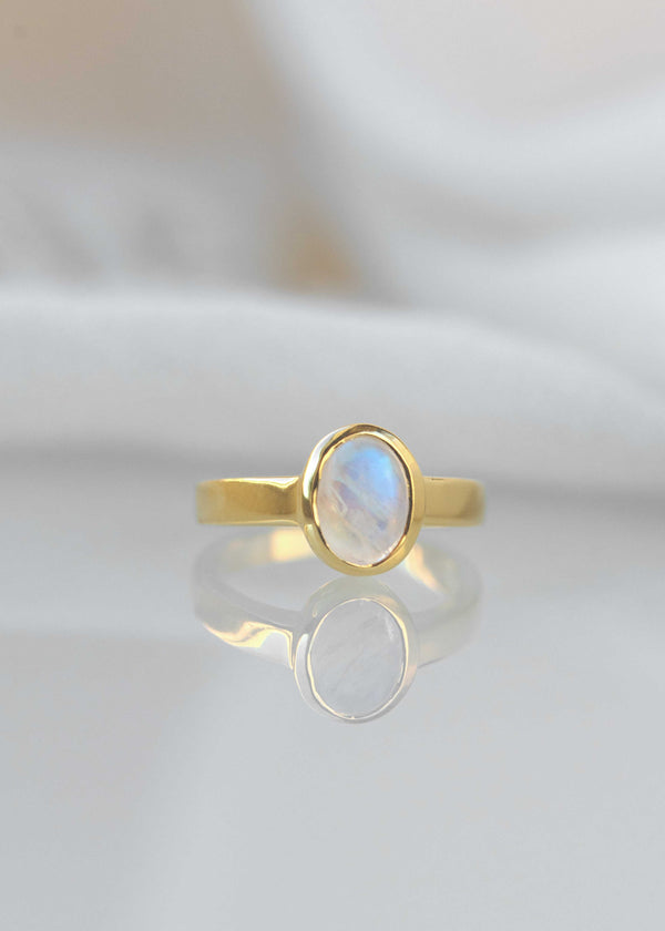 moonstone ring gold small delicate promise ring pinky ring