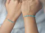 Turquoise Gold Bracelet Mother Daughter Jewelry Mother's day gifts