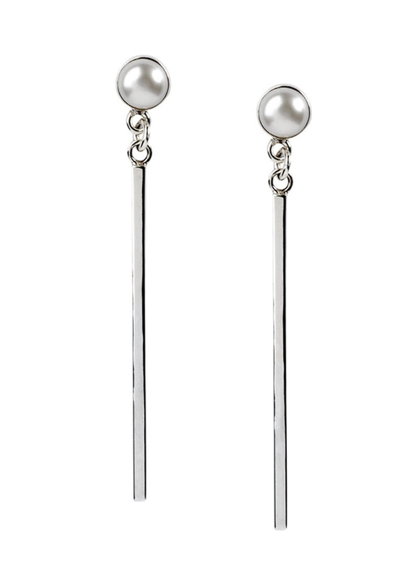 Pearl & Line Earrings