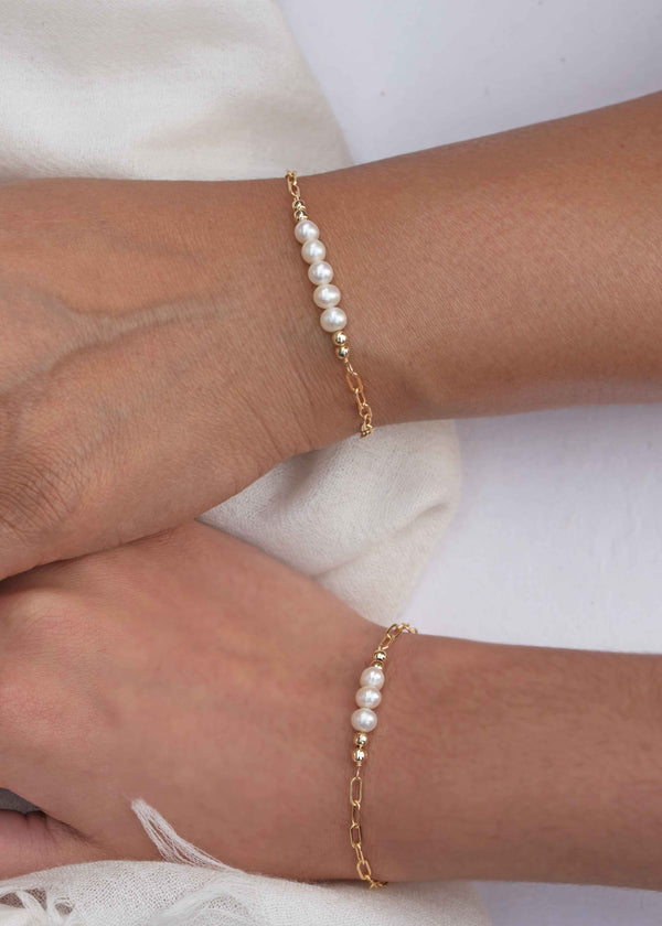 pearl bracelet set mother's day gift gift for mom