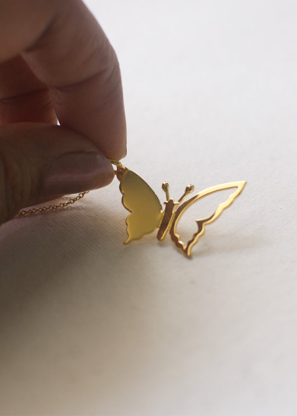 Petite Butterfly in Gold Vermeil
