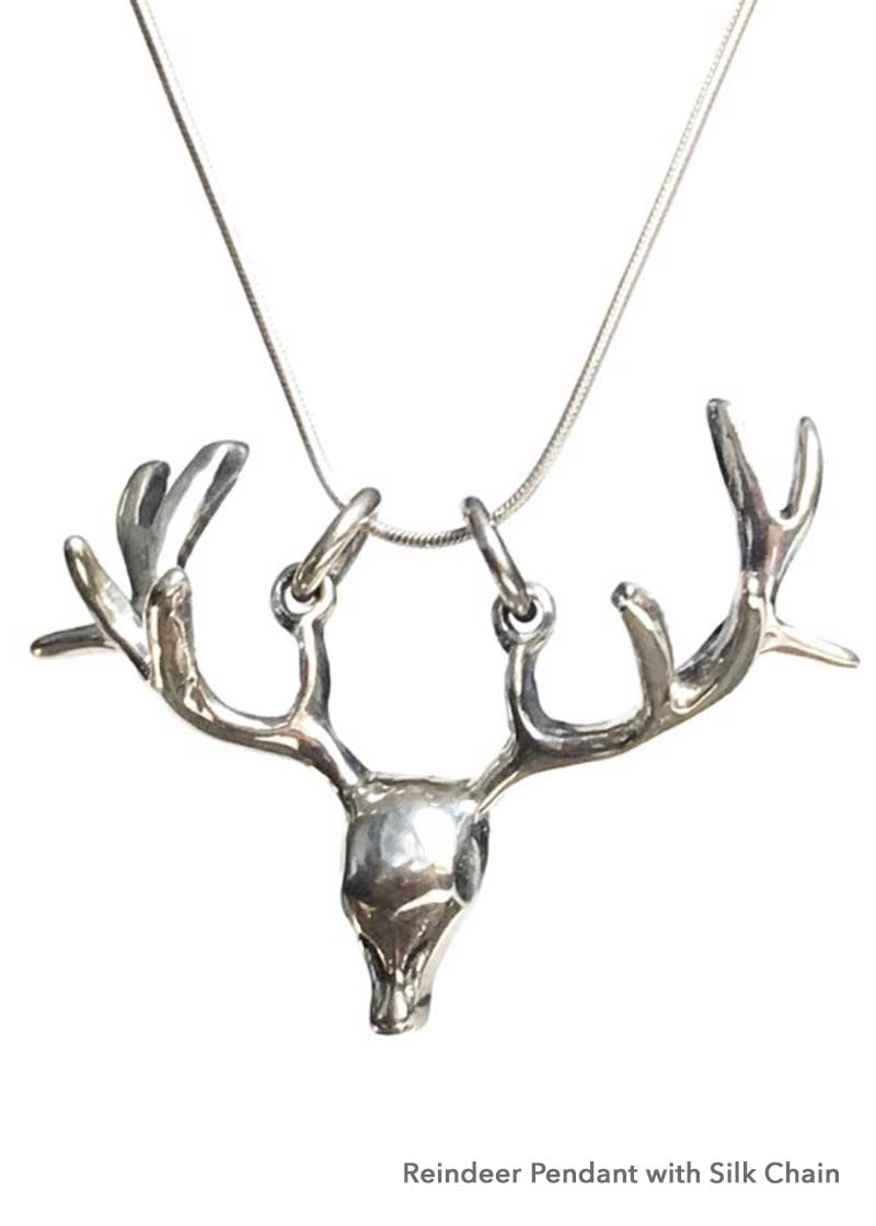 deer antler pendant, Christmas necklace, women's hunting gift