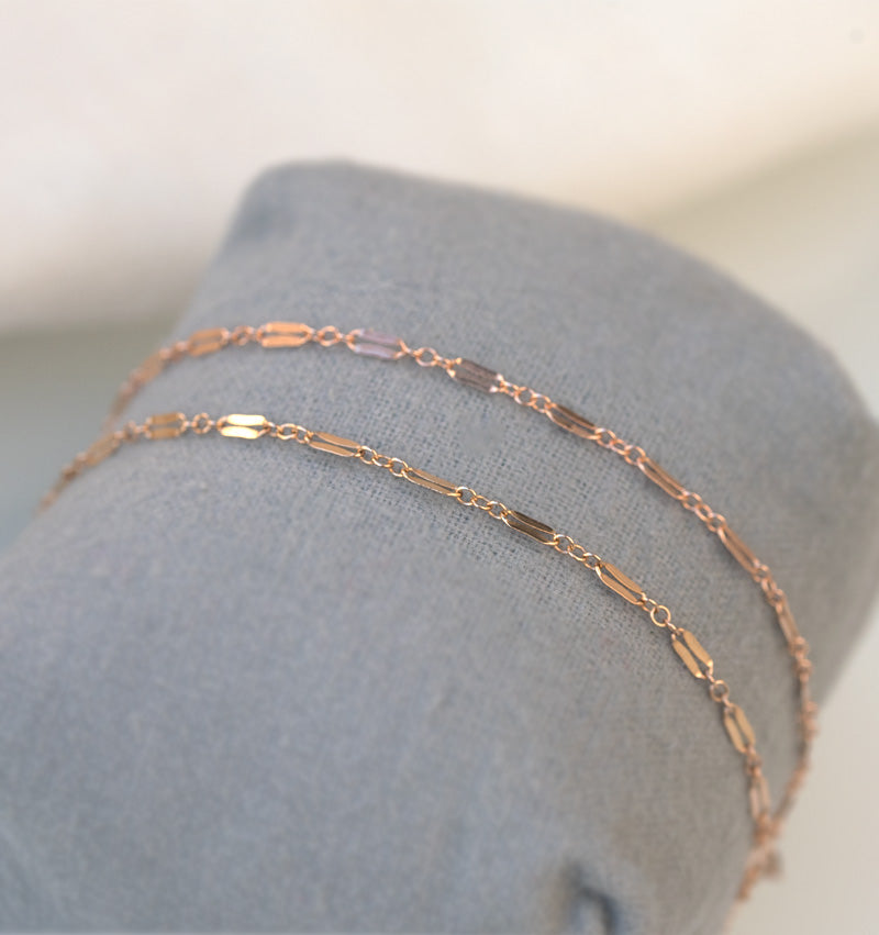 Rose Gold Bracelet Set Mother Daughter Gift Mother's Day Jewelry