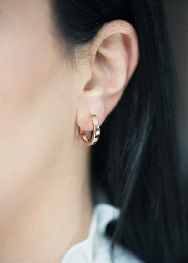 rose gold hoops for women modern medium classic earrings