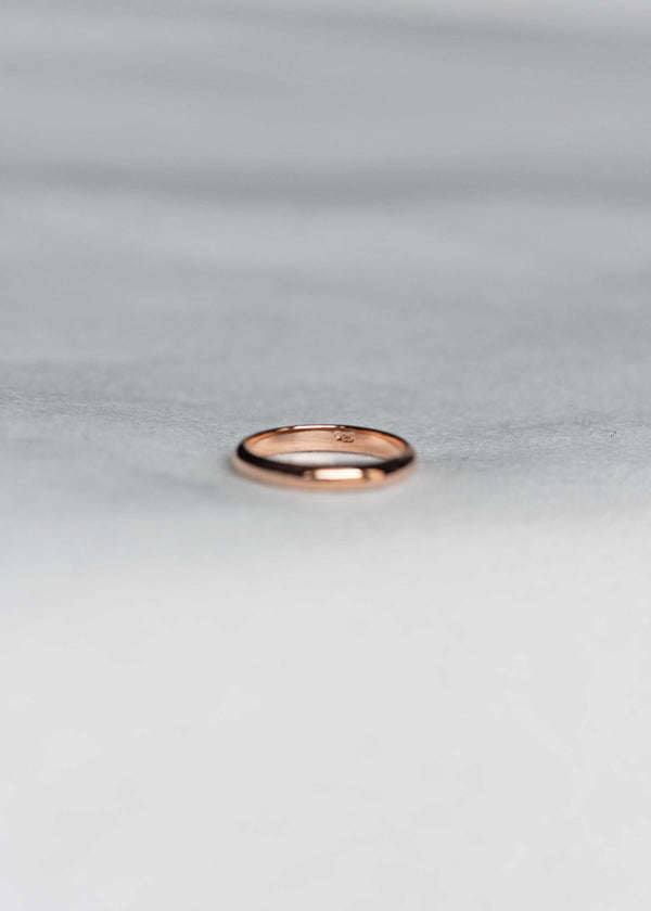 rose gold thin stacking ring, rose gold band