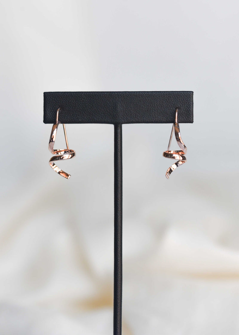 Small Abstract Earrings - Rose Gold