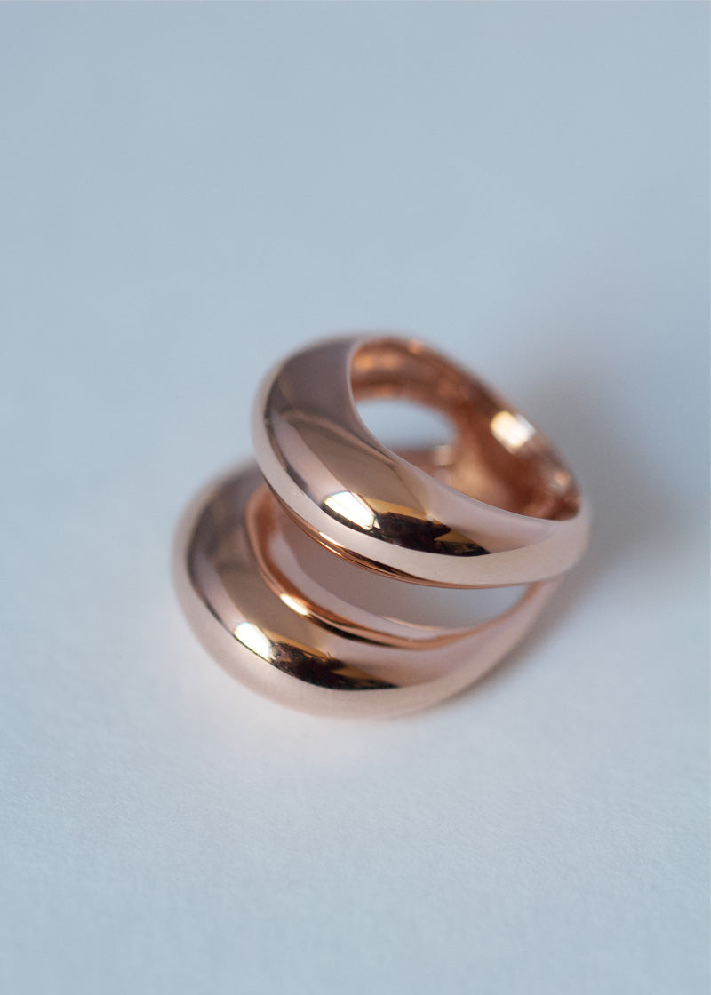 Dome Ring in Rose Gold, Rose Gold Statement Ring, Dome Ring