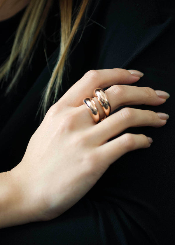 rose gold dome ring