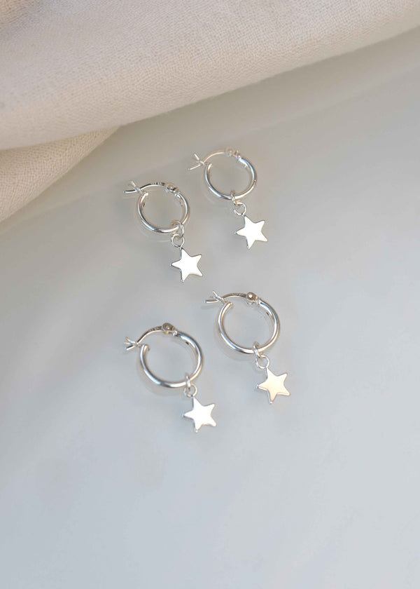 Mother Daughter Star Earrings Mother's Day Gift Set