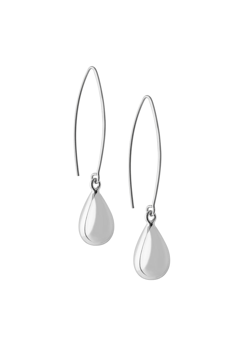 Tear drop earrings silver