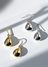 Teardrop Earrings Dangle Drop Earrings Sterling Silver 18k Gold Plated