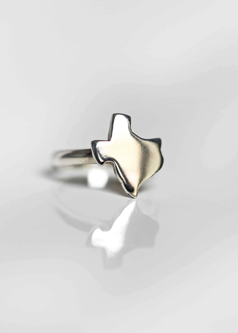 sterling silver Texas ring, texas shape ring, texas jewelry