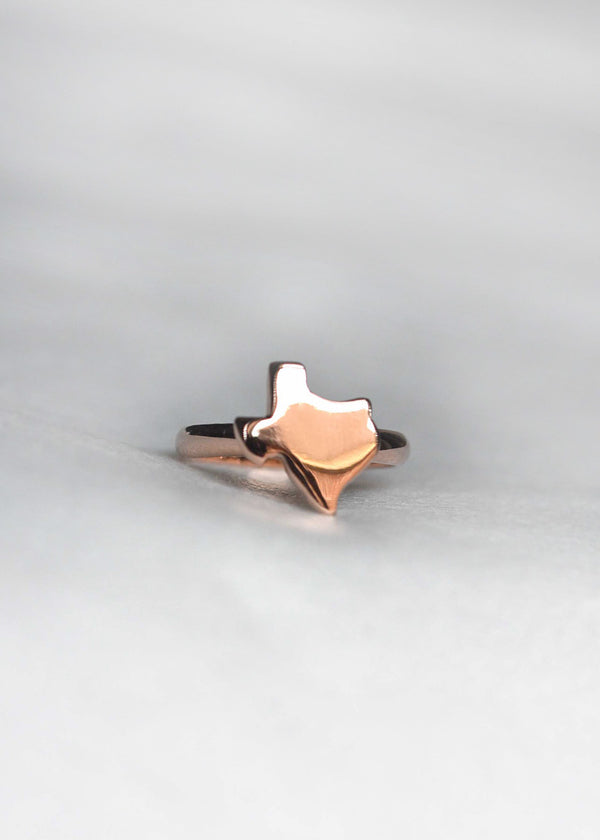 texas ring rose gold