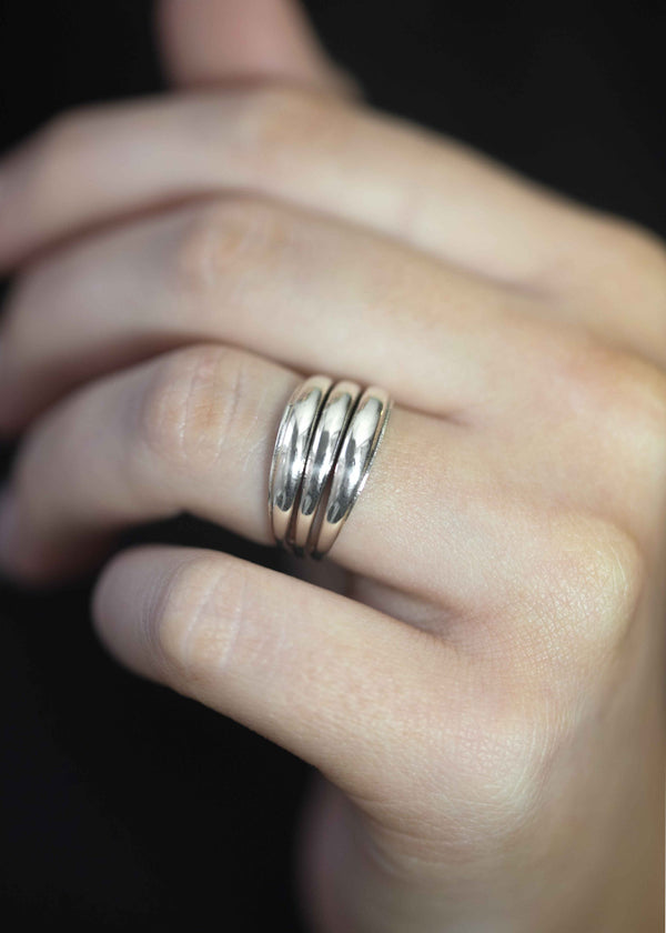 sleek dome ring in sterling silver