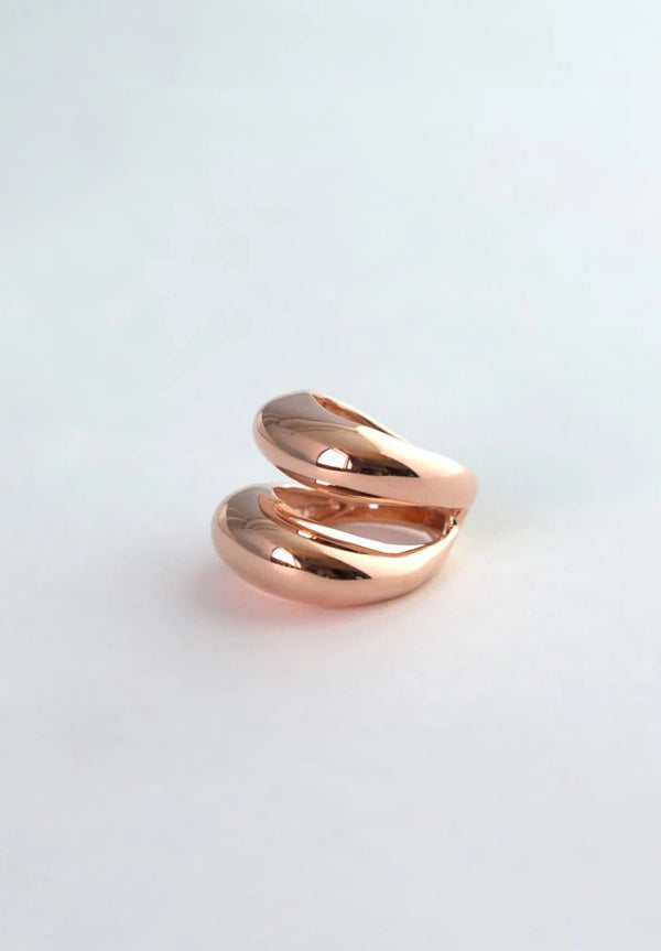 Dome Ring in Rose Gold, Rose Gold Statement Ring, Dome Ring, double dome ring
