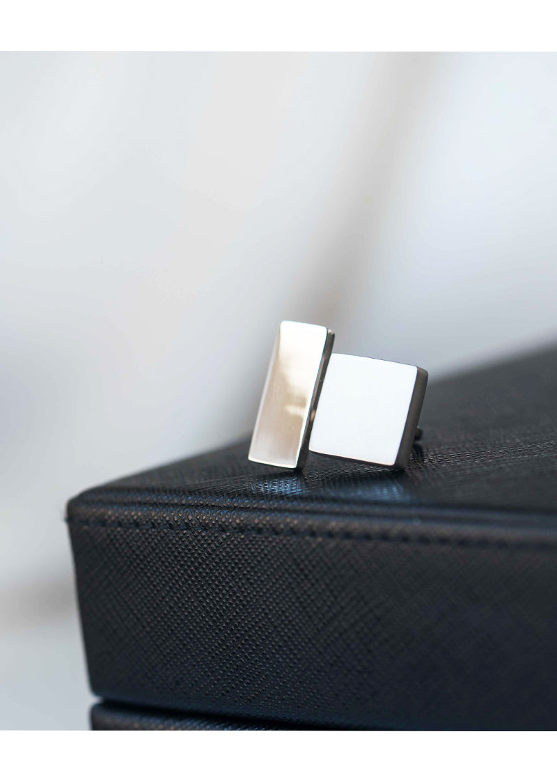 Geometric Sterling Silver Ring Large Size Adjustable Chunky Modern Unique Contemporary