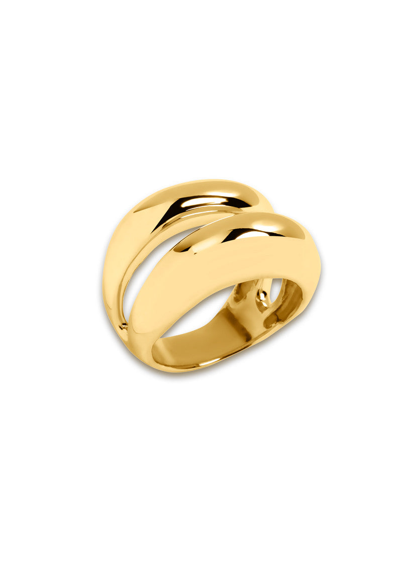 Two Dome Ring - Gold