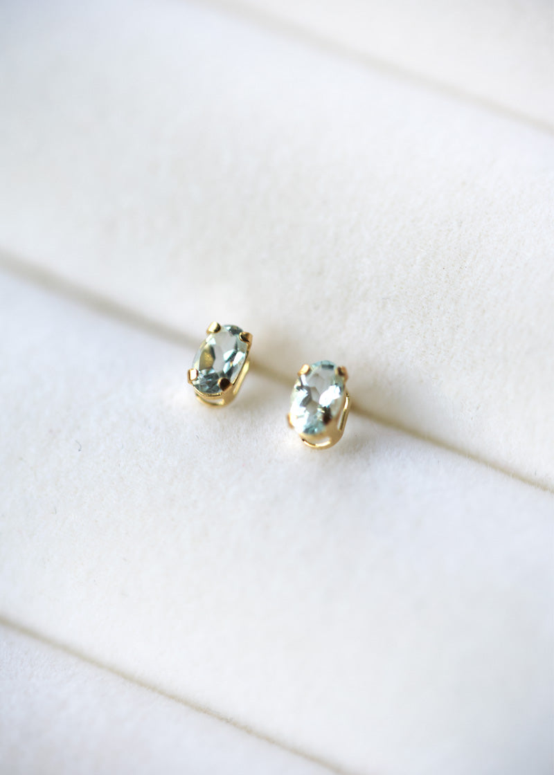 aquamarine earrings in gold