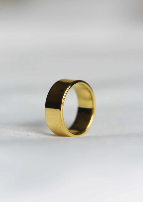 Gold Thick Stacking Ring