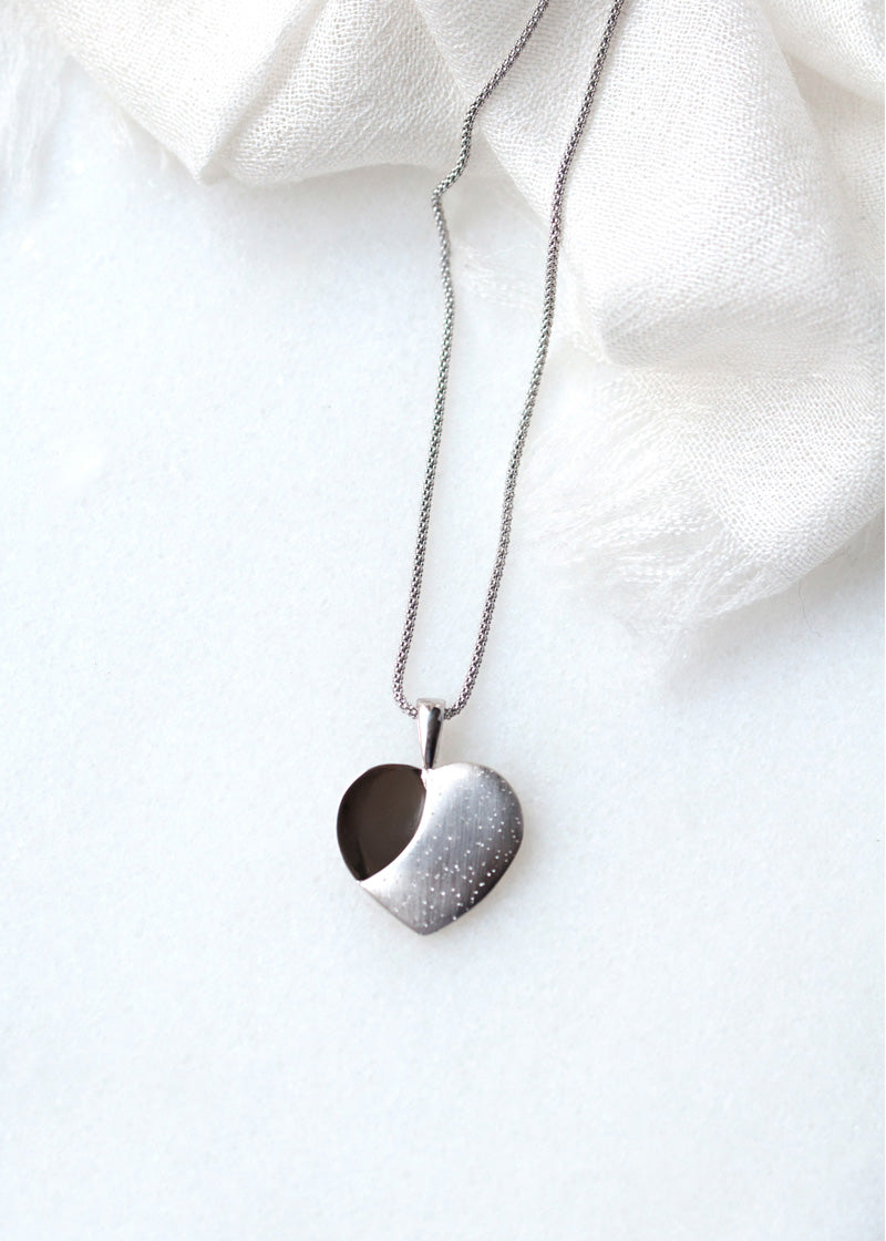 Diamond Dust Heart Pendant