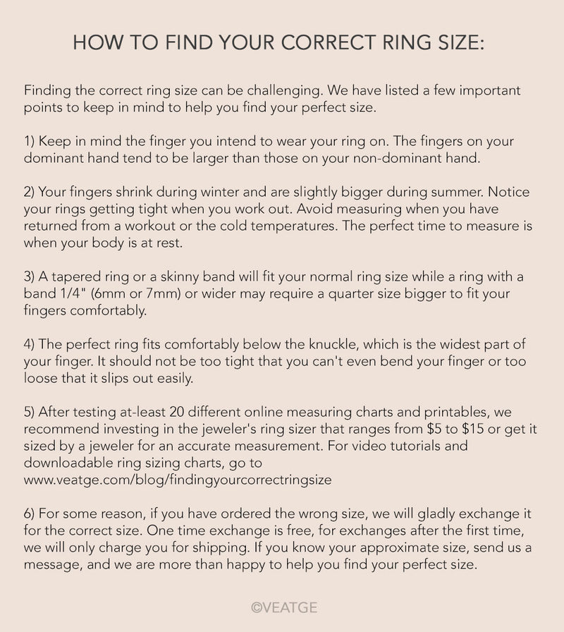 how to find your correct ring size