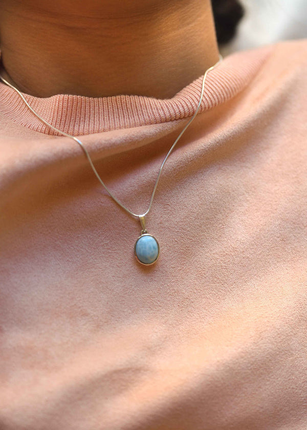 larimar necklace, real larimar, genuine larimar, birthday gift