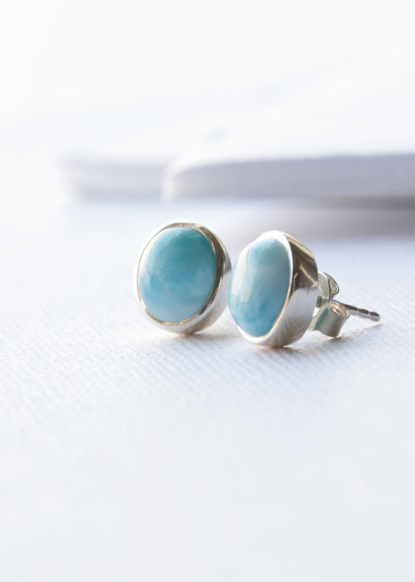 Larimar Studs - Earrings