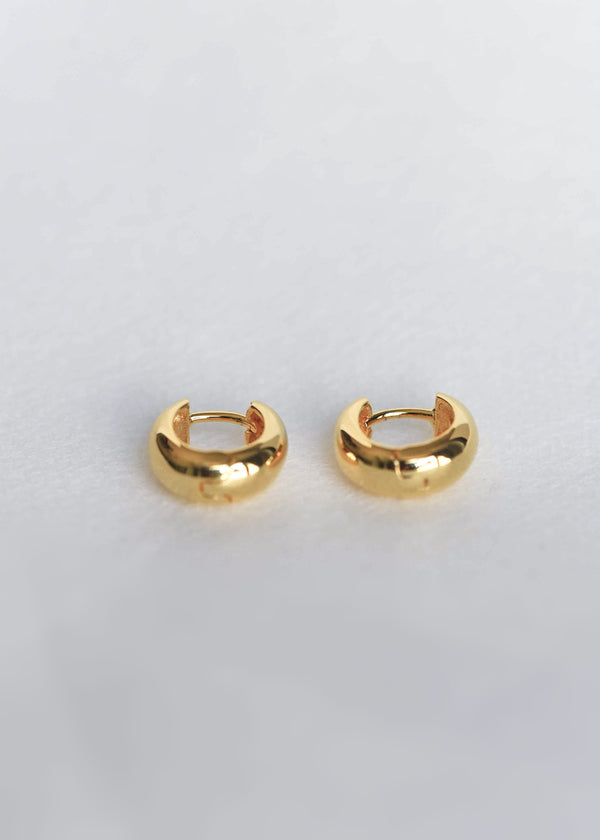 dome hoop earrings delicate gold chunky small huggies
