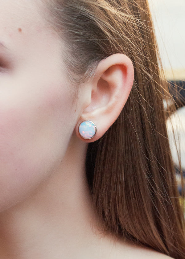 Opal Large Studs - Earrings