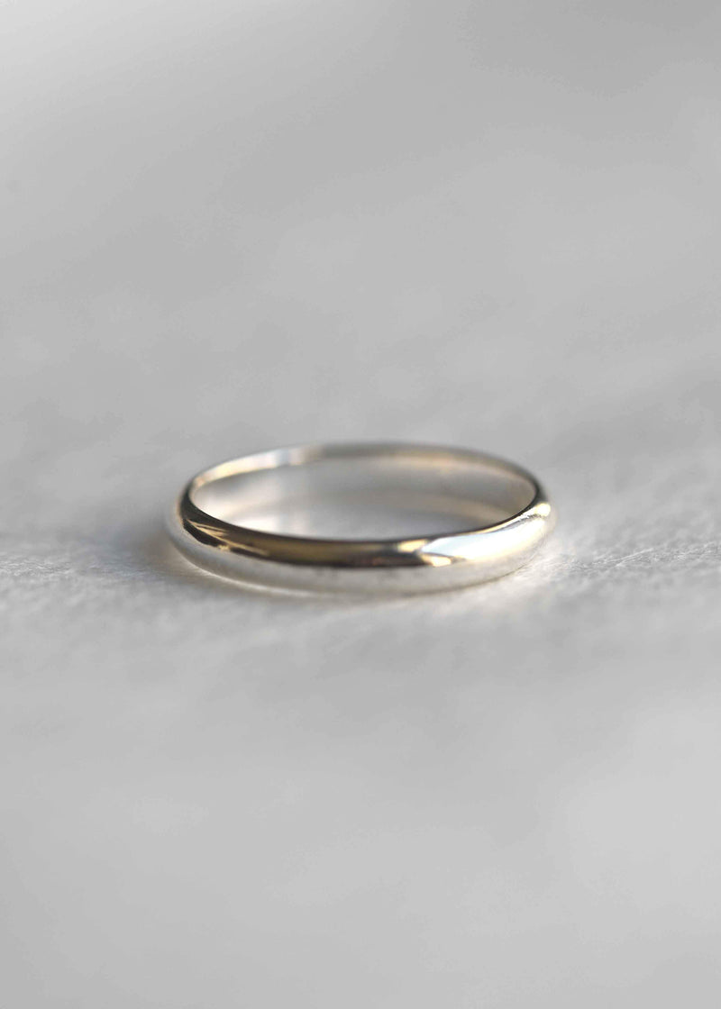 simple wedding band, silver stacking ring