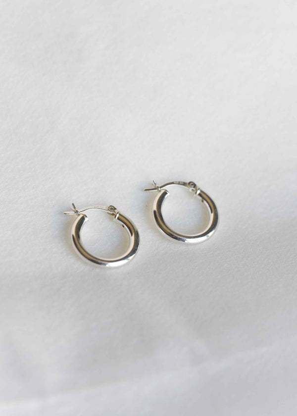 silver hoop earrings, silver huggie hoops
