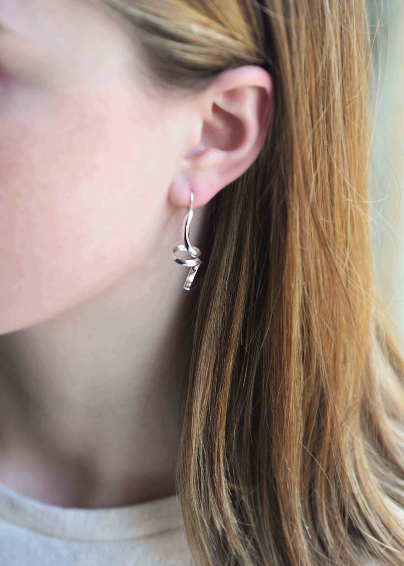 Small Abstract Earrings - Sterling silver