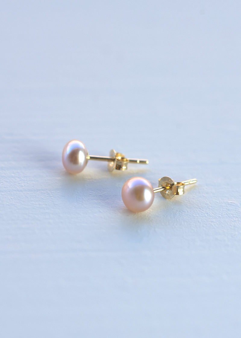 tiny freshwater pearl earrings