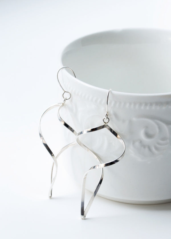 Wind Chime Earrings - Sterling Silver