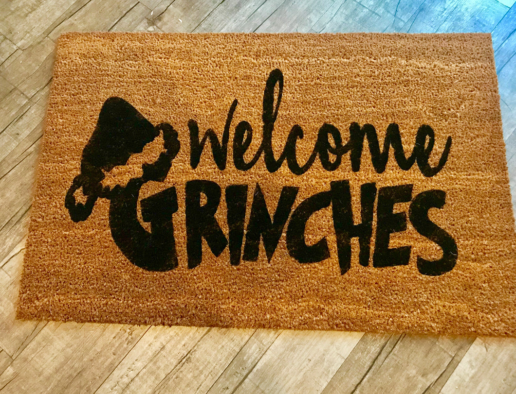 Welcome Grinches doormat