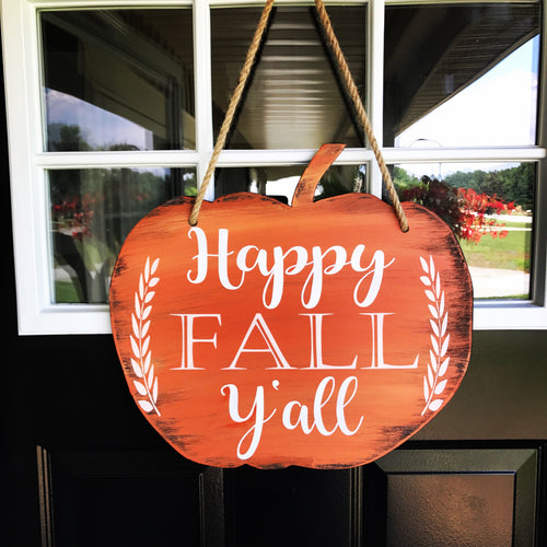Happy Fall Y'all Pumpkin