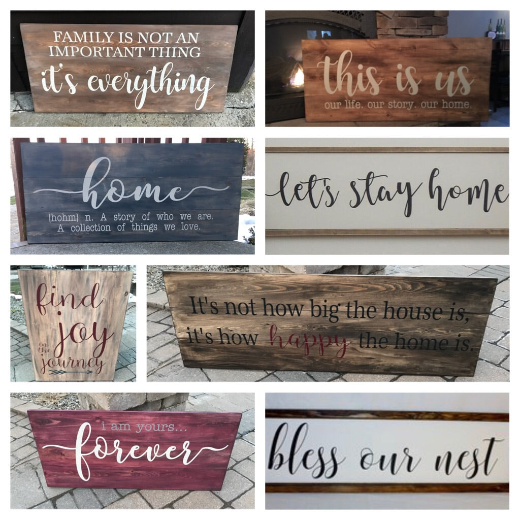 Oversized Farmhouse Signs Workshop 4/12/18 at 6:00pm