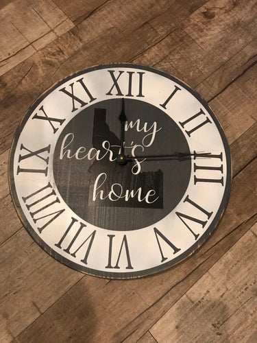 My heart's home (state of choice) clock 17""